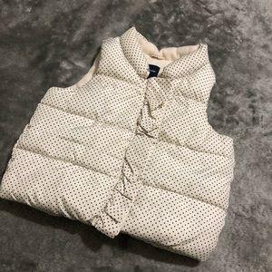 Baby Gap-Polka Dot Puffer Vest Size 18-24 Months